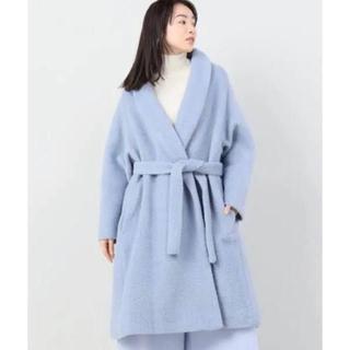 ノーブル(Noble)の【美品】NOBLE ノーブル コート アンゴラ アイスブルー 水色 ブルー(ロングコート)