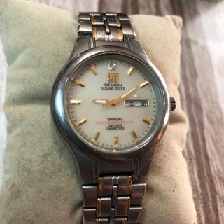エルジン(ELGIN)のELGINソーラー チタニウム腕時計(腕時計(アナログ))