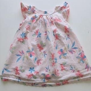 babyGAP - GAP baby 80cm ピンクの花柄ワンピース
