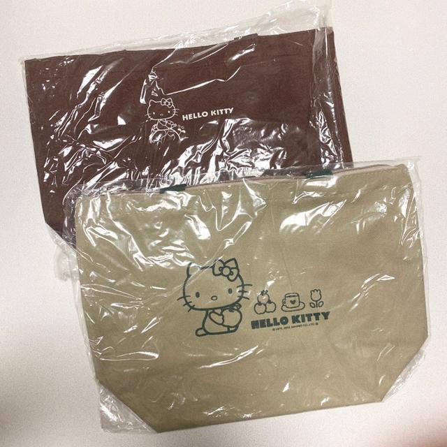 ハローキティ(ハローキティ)のハローキティ ノベルティ お買い物袋 エコバッグ お弁当袋 ランチバッグ エンタメ/ホビーのおもちゃ/ぬいぐるみ(キャラクターグッズ)の商品写真
