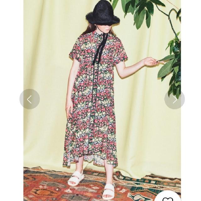 fur fur(ファーファー)のfurfur 柄ハシゴレースパジャマシャツ レディースのワンピース(ロングワンピース/マキシワンピース)の商品写真