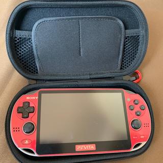PlayStation Vita - ps vita PCH-1000 赤 WiFiモデル
