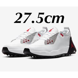 ラスト1点新品27.5cmナイキジョーダンADG2ゴルフエアホワイトセメント