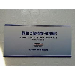 セントラルスポーツ優待券6枚セット(フィットネスクラブ)