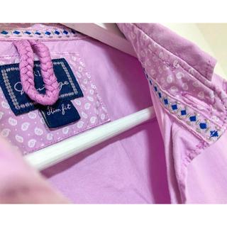 オリアン(ORIAN)のORIAN Vintage コットンシャツ パープルピンク 40 15 3/4(シャツ)