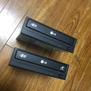エルジーエレクトロニクス(LG Electronics)のLG DVDマルチドライブ 2台 美品(PCパーツ)