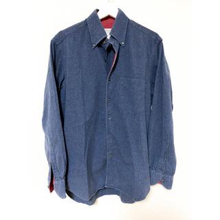 オリアン(ORIAN)のORIAN コットンシャツ ボタンダウン グレー レッド サイズM(シャツ)