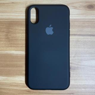アップル(Apple)の【新品】iPhoneX/XSシリコーン シリコン アップル【送料無料】(iPhoneケース)