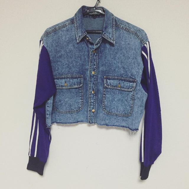 FIG&VIPER(フィグアンドヴァイパー)のメッシュスリーブデニムジャケット レディースのジャケット/アウター(Gジャン/デニムジャケット)の商品写真