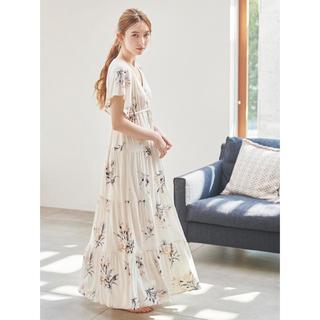 gelato pique - 新品未使用◆ジェラートピケ ビックフラワー ロングドレス ワンピース