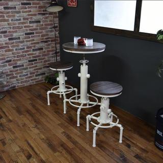 【送料無料】Smoky Bar Table / White(バーテーブル/カウンターテーブル)