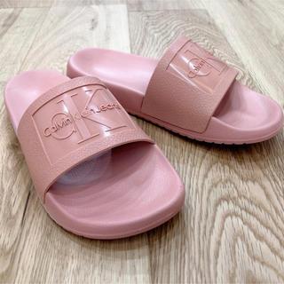 Calvin Klein - ※注 訳アリ‼︎ カルバンクライン CK シャワーサンダル ピンク 24㎝