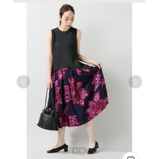 IENA - フラワージャガードボリュームスカート