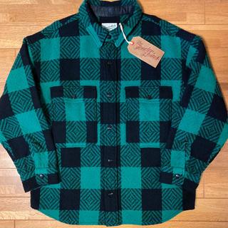 テンダーロイン(TENDERLOIN)の人気品! TENDERLOIN バッファロー シャツ ジャケット グリーン 緑(シャツ)