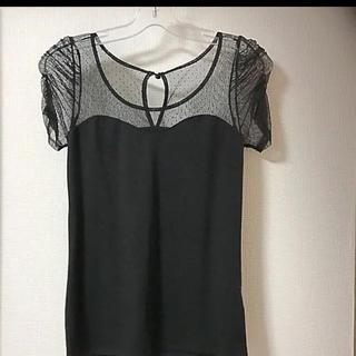 ロイヤルパーティー(ROYAL PARTY)のドットチュールTシャツ(Tシャツ(半袖/袖なし))