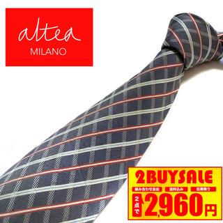 アルテア(ALTEA)の【美品】Altea ネクタイ イタリア製 チェック柄(ネクタイ)