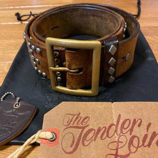テンダーロイン(TENDERLOIN)の絶版! TENDERLOIN HTC PORTER スタッズ ベルト 茶 38(ベルト)