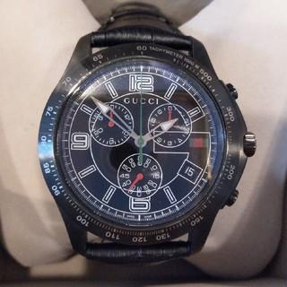 グッチ(Gucci)の【土日値引!】【GUCCI】Gタイムレス クロノグラフ 黒(腕時計(アナログ))