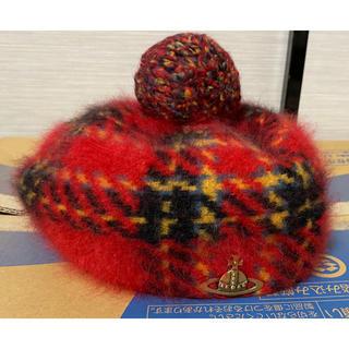 ヴィヴィアンウエストウッド(Vivienne Westwood)のヴィヴィアンウエストウッド ベレー帽 チェック レッド(ハンチング/ベレー帽)