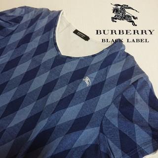 BURBERRY BLACK LABEL - BURBERRY BLACK LABEL 半袖Tシャツ サイズ2