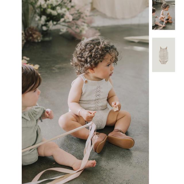 Caramel baby&child (キャラメルベビー&チャイルド)のjamie kay ニットロンパース キッズ/ベビー/マタニティのベビー服(~85cm)(ロンパース)の商品写真