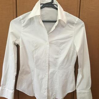 エル(ELLE)の白シャツ レディースM ELLE PLANETE(シャツ/ブラウス(長袖/七分))