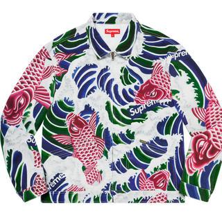 シュプリーム(Supreme)のxl supreme waves work jacket(Gジャン/デニムジャケット)