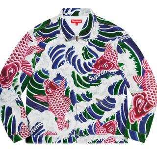 シュプリーム(Supreme)のL supreme waves work jacket(Gジャン/デニムジャケット)