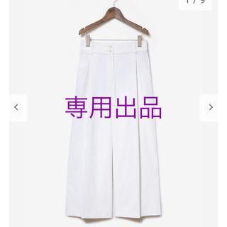 PLST - 【PLST】リネンブレンドワイドパンツ☆オフホワイト★Mサイズ☆プラステ