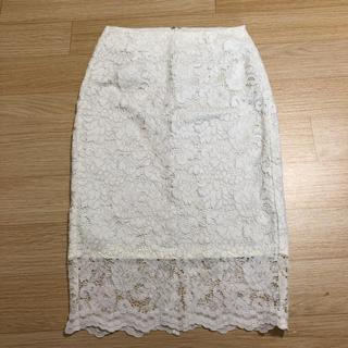ジーユー(GU)のレーススカート GU Sサイズ(ひざ丈スカート)