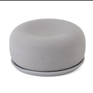 ムジルシリョウヒン(MUJI (無印良品))のアロマストーン 皿付き グレー(アロマ/キャンドル)