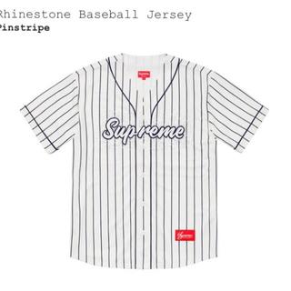 Supreme - Supreme Rhinestone Baseball Jersey L
