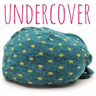 アンダーカバー(UNDERCOVER)のUNDERCOVER アンダーカバー  ドット柄 リボン付き ニット 帽子(ニット帽/ビーニー)