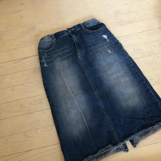 ジーユー(GU)のデニムスカート150cm(スカート)