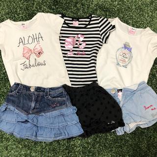 バービー(Barbie)の訳あり バービー 半袖 Tシャツ パンツ 6点セット 130(Tシャツ/カットソー)