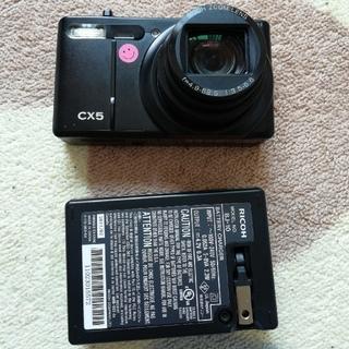 リコー(RICOH)のジャンク品 RICOH リコー CX5 デジタルカメラ&充電器(コンパクトデジタルカメラ)