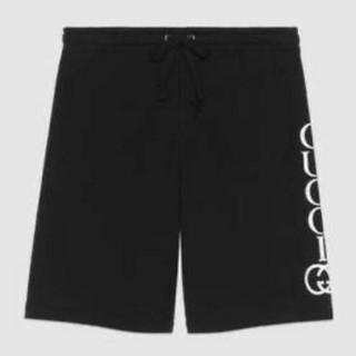 Gucci - GUCCI ロゴ プリント ショートパンツ M BLACK