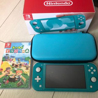 Nintendo Switch - Nintendo Switch  Lite ターコイズ どうぶつの森セット
