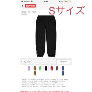 supreme warm up pant black Sサイズ