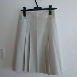 ジェイプレスレディス(J.PRESS LADIES)の美品 ジェイプレス 膝丈スカート ライトベージュ(ひざ丈スカート)