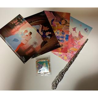 ディズニー(Disney)のプリンセスポストカードセット(キャラクターグッズ)