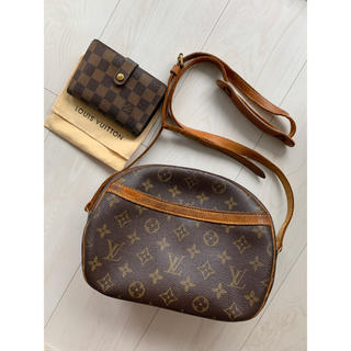 LOUIS VUITTON - 【2点セット】確実正規品 ルイヴィトン ブロワ ダミエ ショルダーバッグ 財布