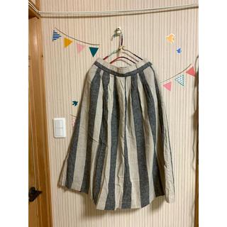 スタディオクリップ(STUDIO CLIP)の試着のみ♡タグ付きストライプスカート(ひざ丈スカート)