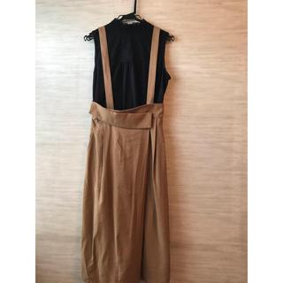 ケービーエフプラス(KBF+)のKBF 2wyサスペンダー付きスカート 新品未使用(ロングスカート)