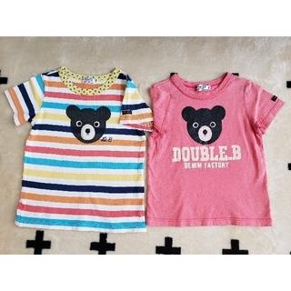DOUBLE.B - 【DOUBLE.B】Tシャツ(サイズ100) 2着
