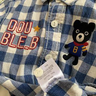 ダブルビー(DOUBLE.B)の⭐️ダブルビー⭐️ビーくん刺繍入りシャツ 110(ブラウス)