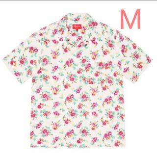 Supreme - Supreme Floral Rayon S/S Shirt White  M