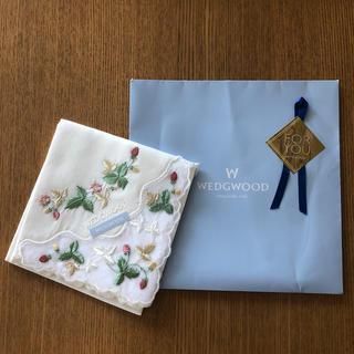 WEDGWOOD - WEDGWOOD ウェッジウッド ハンカチ ワイルドストロベリー ハンカチ