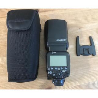 キヤノン(Canon)の①キヤノン スピードライト フラッシュ 600EX-RT ケース、台座付 良品(ストロボ/照明)
