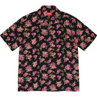 Supreme - XL Supreme Floral Rayon S/S Shirt Black